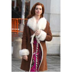 Modern Love Anne Hathaway Brown Coat